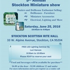 5th Annual Stockton Miniature Show
